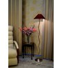 Lamp Post Maroon Poly Cotton Zig Zag Floor Lamp
