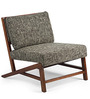 Langston Arm Chair in Charcoal Grey Colour by HomeHQ