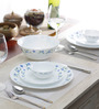 La Opala Diva Juniper Blue Opalware Dinner Set - Set of 19