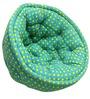 ORGANIC COTTON  Lap Pouffe in Yellow Polka Dots by Reme