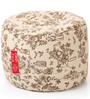 Large Cotton Canvas Abstract Design (Round Shaped) Ottoman Cover Only by Style Homez