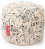 Large Cotton Canvas Abstract Design Round Ottoman Cover by Style Homez