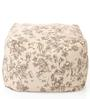 Large Cotton Canvas Abstract Design (Square Shaped) Ottoman Cover Only by Style Homez