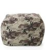 Large Cotton Canvas Camouflage Design Square Ottoman Cover by Style Homez