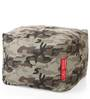 Large Cotton Canvas Camouflage Design Ottoman with Beans by Style Homez