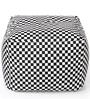 Large Cotton Canvas Checkered Design (Square Shaped) Ottoman Cover Only by Style Homez
