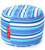 Large Cotton Canvas Striped (Round Shaped) Ottoman with Beans by Style Homez