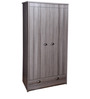 Largo Two Door Wardrobe with One Drawer in Grey Oak Finish by Gami