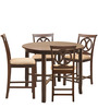 Lauren Four Seater Dining Set in Brown Colour by @home