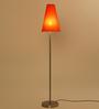 Dumah Orange Iron Modern Shade Floor Lamp by Casacraft