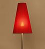 Dumah Red Iron Modern Shade Floor Lamp by Casacraft