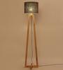 Almanzo Floor Lamp in Brown by CasaCraft