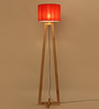 Carina Floor Lamp in Orange by CasaCraft