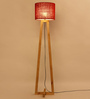 Almanzo Floor Lamp in Red by CasaCraft