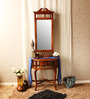 Hertford Dressing Table in Provincial Teak Finish by Amberville