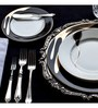 Lazzaro Sterling 47 Pcs Dinner Set - Off White, Black & Gold