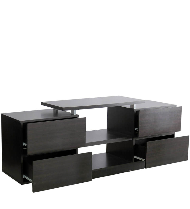 LCD Entertainment Unit with Four Drawers in Walnut Colour by Eros  available at Pepperfry for Rs.11900