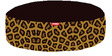 Leopard Round Pet Bean Bag Cover in Brown Colour by Orka