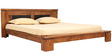Leopold Solidwood Queen Bed in Brown Colour by HomeTown