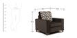 Lexus Sofa Set Black 3+1+1 in Black Color by Arra