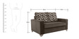 Lexus Sofa Set Black 3+2+1 in Black Color by Arra