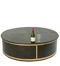 Leather Bar Cabinet cum Coffee Table by Magus Designs