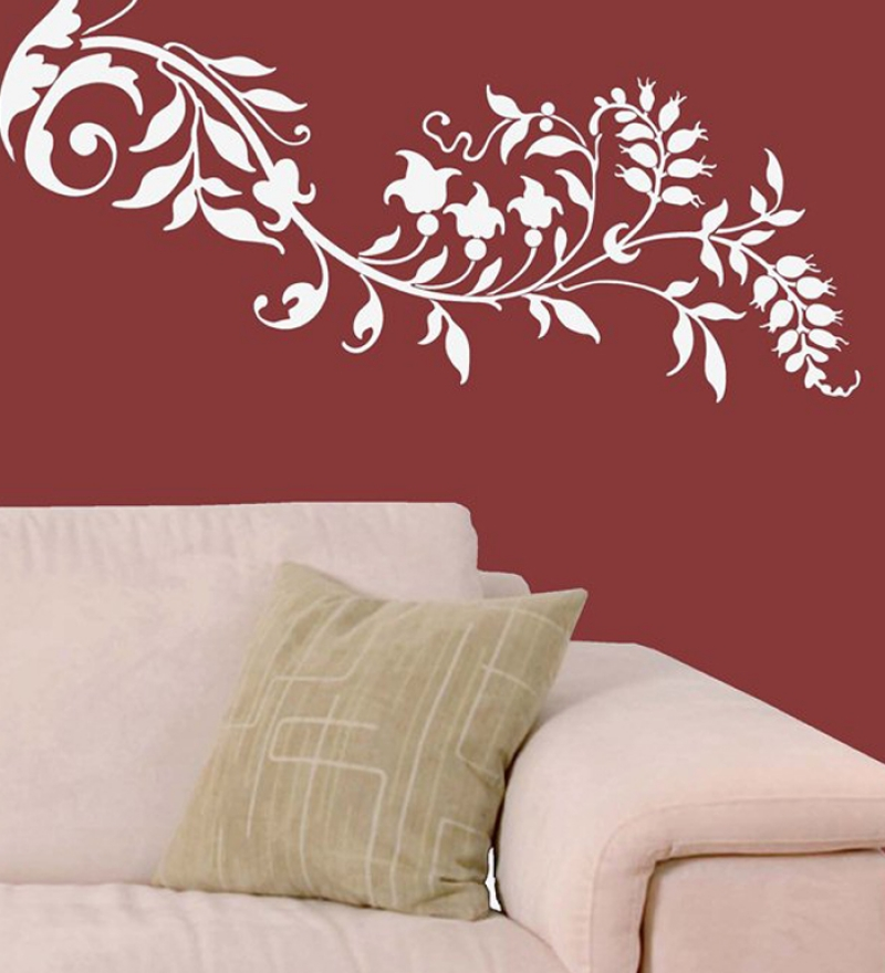 Wall art decor leaf scroll wall sticker by wall art decor for Art wall decoration