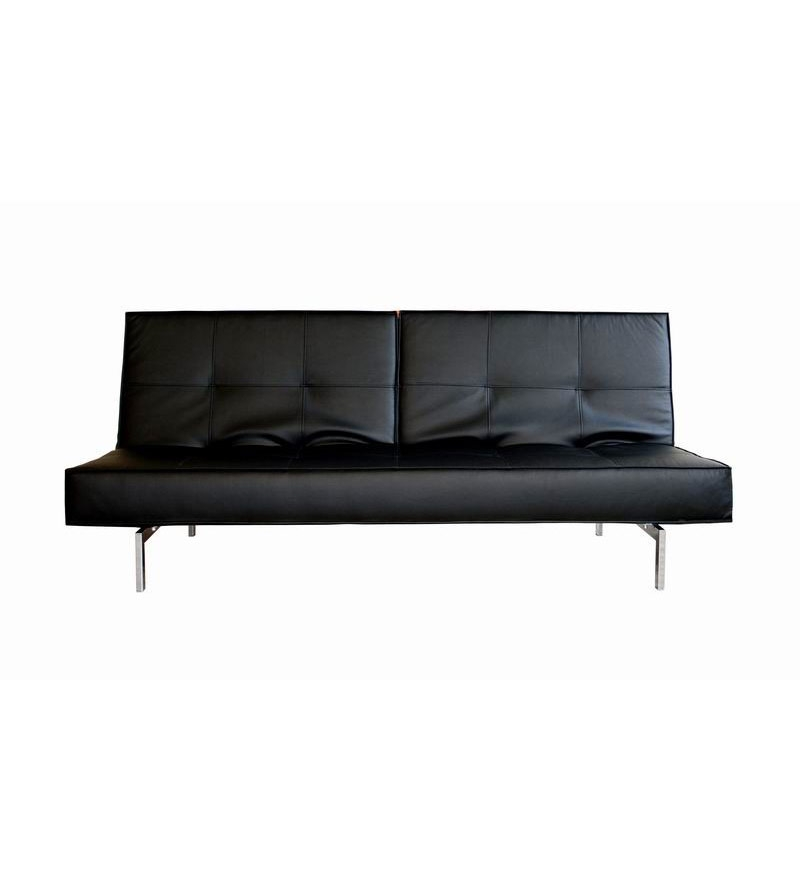 Leatherite sofa cum bed twin back folding mechanism by for Sofa xum bed