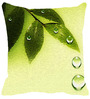 Leaf Designs Green Microfibre 12 x 12 Inch Soothing Cushion Cover
