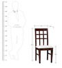 Raliegh Four Seater Dining Set in Provincial Teak Finish by Woodsworth