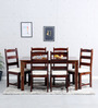 Dallas Six Seater Dining Set in Provincial Teak Finish by Woodsworth