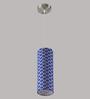 LeArc Designer Lighting HL3731 Blue Shade Hanging Lamp
