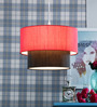 Learc Designer Lighting Red & Black Fabric Mixed Pendant