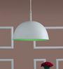 LeArc Designer Lighting White & Green Aluminium Pendant