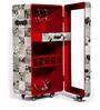 Leather Single Door Hair-on Bar Cabinet by Studio Ochre