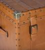 Genuine Leather Trunk - Tan Brown By Studio Ochre