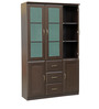 Legacy Three Door Bookcase in Wenge Colour by HomeTown