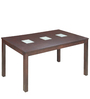 Leo Six Seater Dining Table in Indian Mahogany  by Godrej Interio