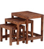 Leon Solid Wood Set Of Tables in Provincial Teak Finish by Woodsworth