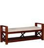 Fife Upholstered Bench in Honey Oak Finish by Woodsworth