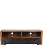 Leopold Entertainment Unit in Walnut & Black Colour by HomeTown