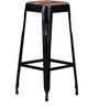 Mehia Bar Stool in Black Colour by Bohemiana