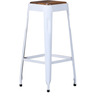 Mehia Bar Stool in White Color by Bohemiana
