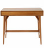 Lewis Mid Century Mini Study Table in Brown Colour by Asian Arts
