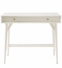 Lewis Mid Century Mini Study Table in White Colour by Asian Arts