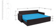 Libford Sofa cum Bed with Four Pillows in Sky Blue Colour by Auspicious Home