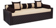 Libford Sofa Cum Bed with Two Pillows & Five Round Bolsters in Cream Colour by Auspicious