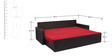 Libford Sofa Cum Bed with Two Pillows & Five Round Bolsters by Auspicious