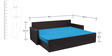 Libford Sofa Cum Bed with Two Pillows & Four Round Bolsters by Auspicious