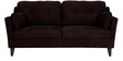 Liliana Three Seater Sofa in Chestnut Brown Colour by CasaCraft
